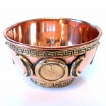 Triple Moon Copper Offering Bowl