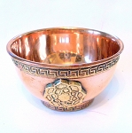 Lotus Flower Copper Offering Bowl