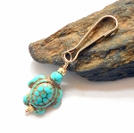 Turquoise Turtle Pet Charm