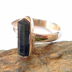 Verdelite Tourmaline Sterling Silver Ring Size 8.5