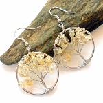 Citrine Tree of Life Earrings