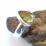 Blue Kyanite Sterling Silver Ring Size 7.5