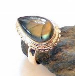 Labradorite Sterling Silver Ring Size 6
