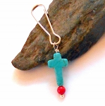 Red Coral and Turquoise Pet Charm
