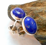 Lapis Sterling Silver Post Earrings