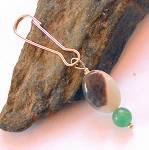 Amazonite and Green Aventurine Pet Charm