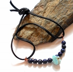 Lapis and Larimar Wrap Bracelet