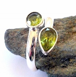 Peridot Sterling Silver Ring Size 8