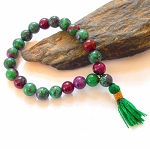 Ruby in Zoisite Mala Power Bracelet
