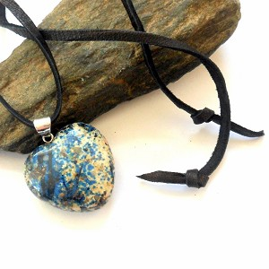 Azurite Heart Necklace