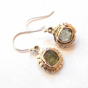Moldavite Sterling Silver Earrings