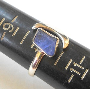 Tanzanite Sterling Silver Ring Size 8.5