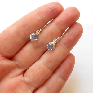 Tanzanite Sterling Silver Celtic Earrings