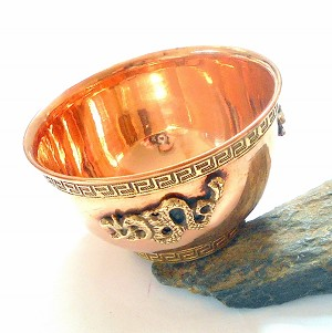 Copper Dragon Offering Bowl