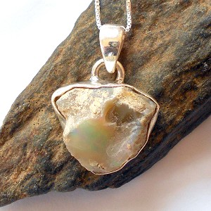 Raw Ethiopian Opal Necklace 3