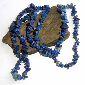 Lapis Long Chip Necklace