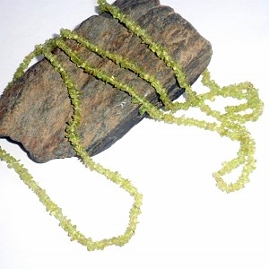 Peridot Long Chip Necklace