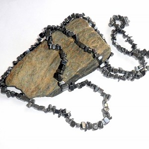 Hematite Long Chip Necklace
