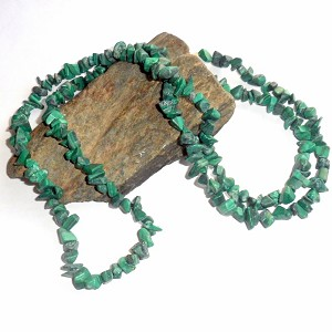 Malachite Long Chip Necklace