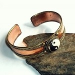 Brass and Copper Yin Yang Bracelet