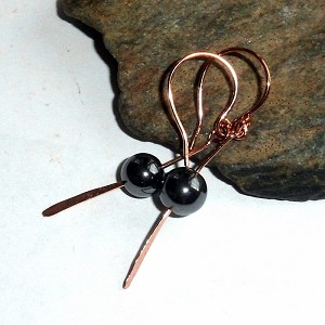 Hematite Paddle Earrings