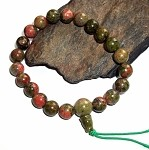 Unakite Mala Power Bracelet