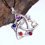 Seven Chakras Celtic Knot Necklace