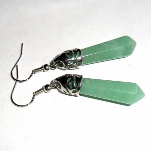 Green Aventurine Wand Earrings