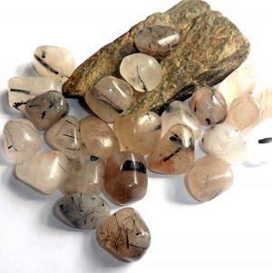 Tourmalinated Quartz Gemstone