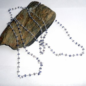Blue Iolite Rosary Three Way Necklace