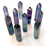 Rainbow Fluorite Gemstone Tower