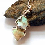 Ethiopian Opal Sterling Silver Necklace