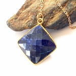 Sapphire Gold Necklace