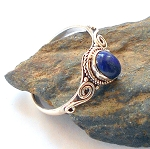 Lapis Sterling Silver Ring Size 9