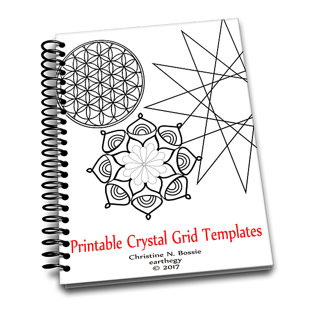 photograph about Printable Crystal Grid known as Printable Crystal Grid Templates E-book