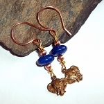 Blue Jade Elephant Earrings