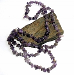Amethyst Long Chip Necklace