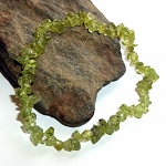 Peridot Chip Stretch Bracelet