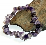 Amethyst Chip Stretch Bracelet