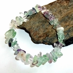 Fluorite Chip Stretch Bracelet