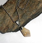 Rutilated Quartz Tumble Stone Necklace