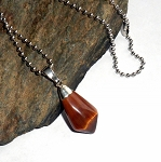 Tigers Eye Tumble Stone Necklace