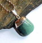 Emerald Tumble Stone Necklace