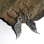 Tibetan Silver Angel Wing Earrings