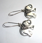 Tibetan Silver Elephant Earrings