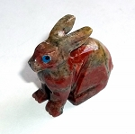 Dolomite Rabbit Spirit Animal Carving
