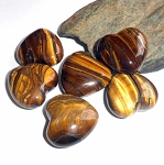 Tigers Eye Pocket Heart
