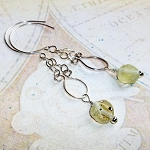 Roman Glass Dangle Earrings
