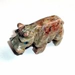 Dolomite Hippopotamus Spirit Animal Carving