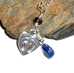 Baby Footprints Lapis Necklace